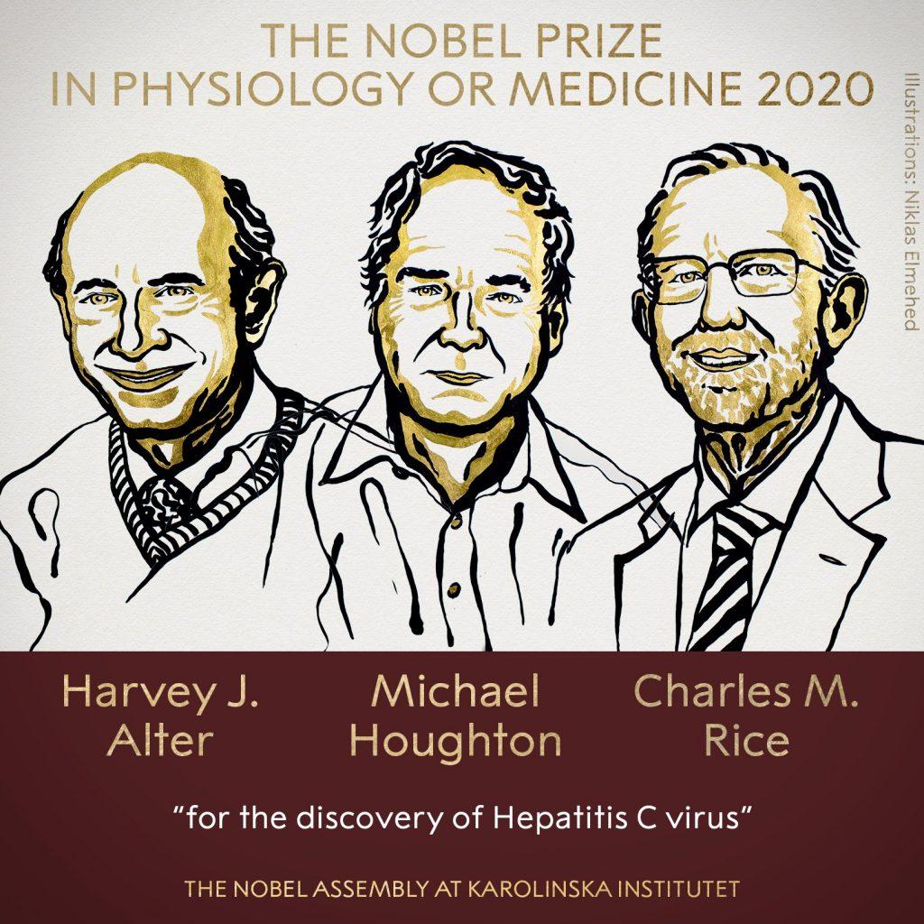El Nobel de Medicina 2020 fue otorgado a descubridores del virus de la hepatitis C.